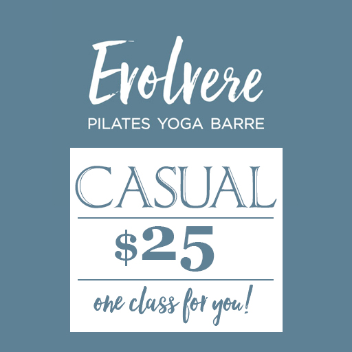 Evolvere pilates yoga barre casual $25 one class