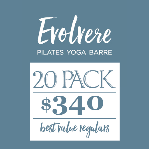 Evolvere Pilates Yoga Barre 20 pack $340 best value regulars