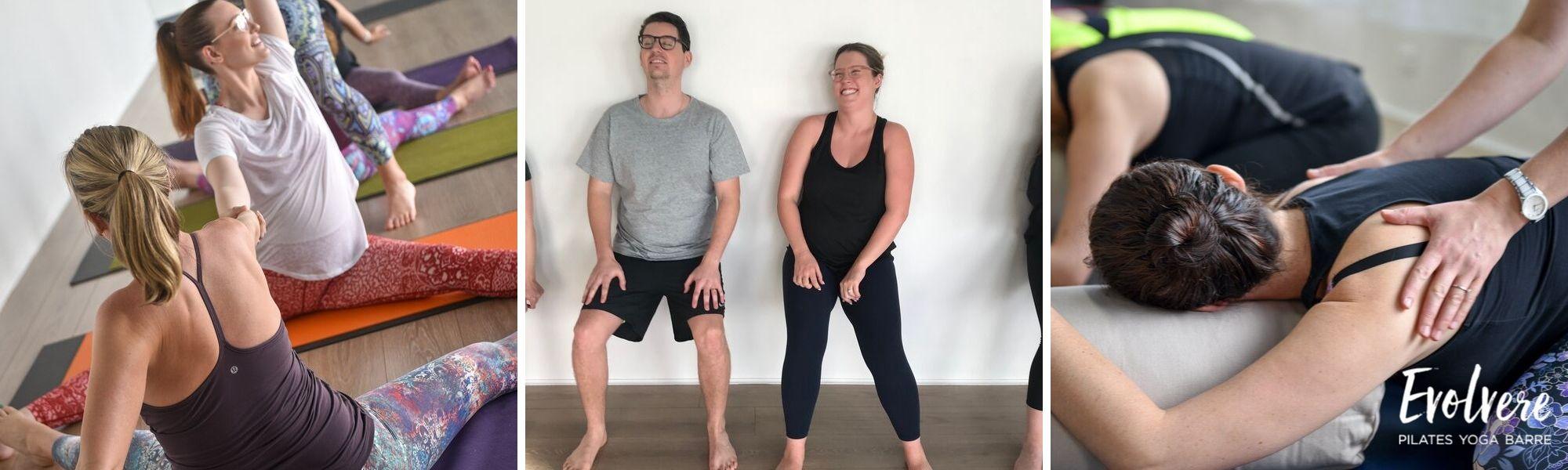 Birth preparation for couples and partners in Lane Cove Pregnancy Yoga studio Evolvere