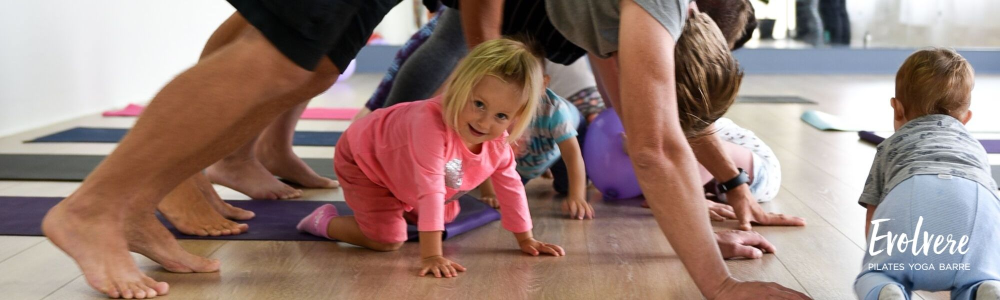 Yoga for the whole family toddlers walkers tweens and teens in Lane Cove at Evolvere
