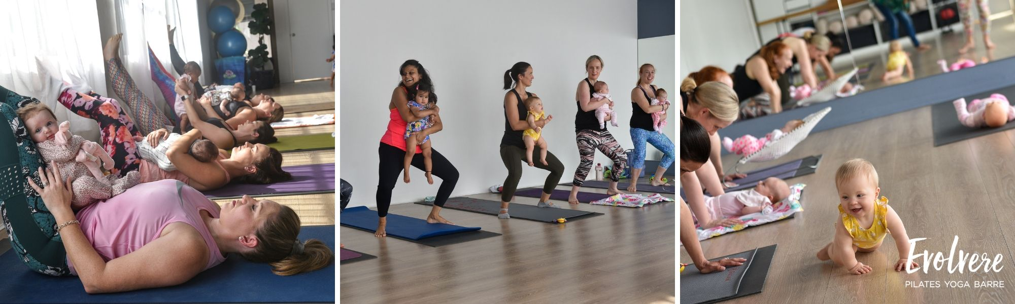 Mums and Bubs classes for postnatal recovery at Evolvere in Lane Cove Sydney