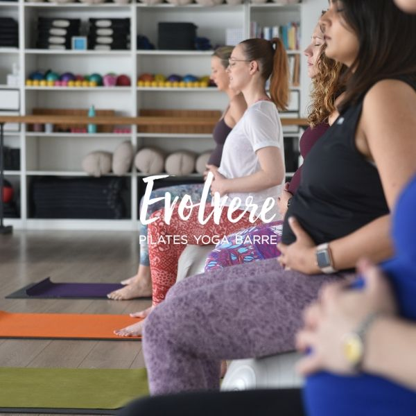 Prenatal Yoga for back pain at Evolvere in Lane Cove